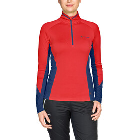 VAUDE Larice - Camiseta de manga larga Mujer - light rojo